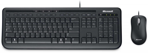 Microsoft Wired Desktop 600 Black USB Keyboard