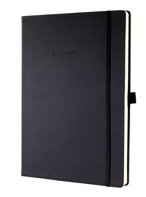 Sigel CONCEPTUM A4 Casebound Hard Cover Notebook Ruled 194 Pages Black