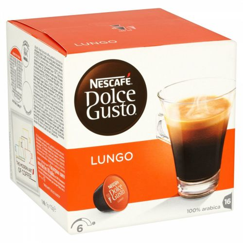 Nescafe Dolce Gusto Caffe Lungo Capsules 12019900 Packed 48 (3x16 capsules = 48 Drinks)