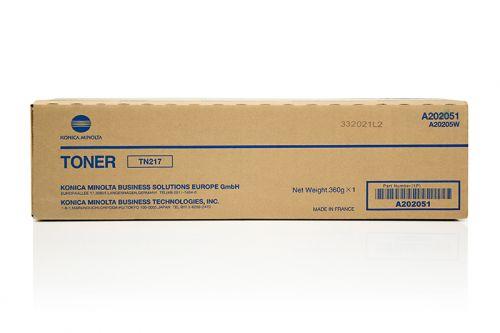 Konica Minolta A202051 TN217 Black Toner 17.5K