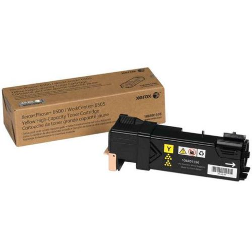 Xerox Yellow High Capacity Toner Cartridge 2.5k pages for 6500 6505 - 106R01596