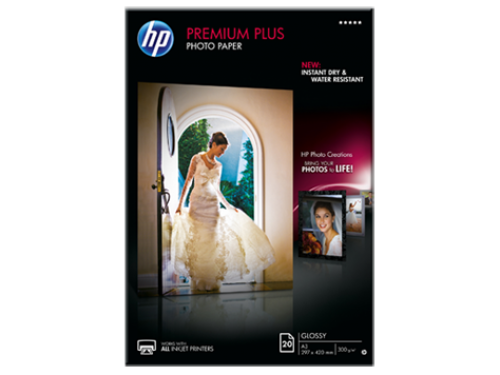 HP Premium Plus Photo Paper Glossy 300gsm A3 CR675A [20 Sheets]