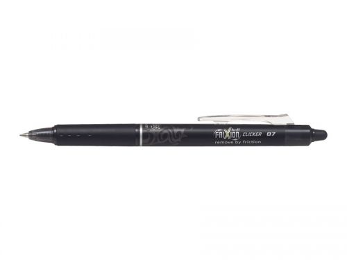 Pilot FriXion Clicker Erasable 0.7mm Black PK12