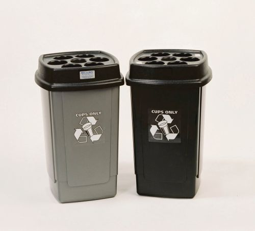 Disposable Cup Waste Bin (480 x 7oz cup capacity 360 x 360 x 650mm) 354185