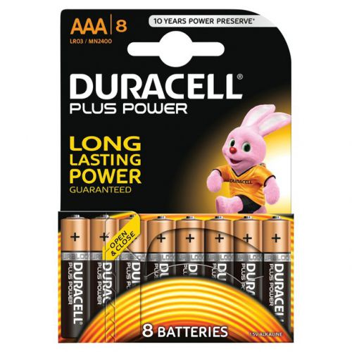 Duracell AAA Plus Batteries PK8