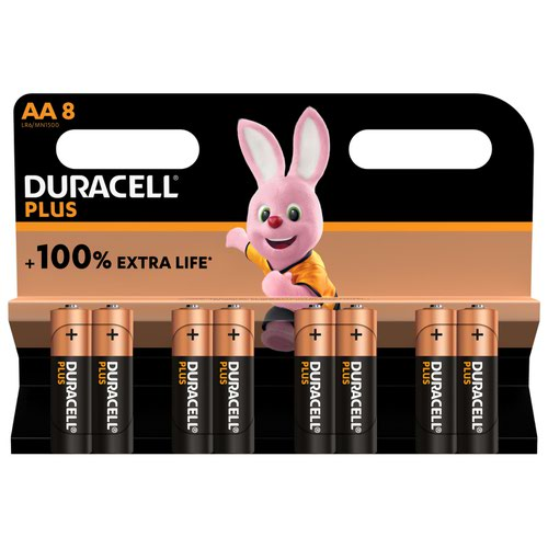 Duracell AA Plus Batteries PK8