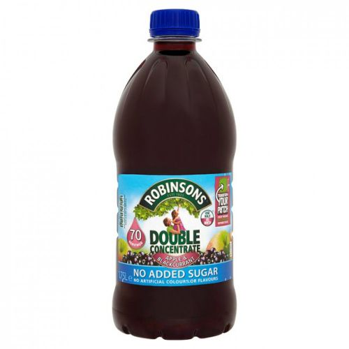 Robinsons Double Conc Apple Blackcurrant 1.75Litre (Pack 2)