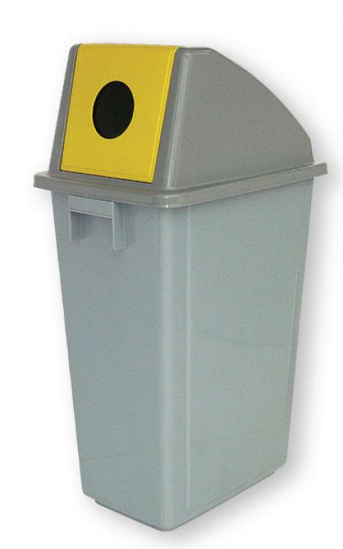 Bottle Recycling Bin 58 Litre with Yellow Hole (non-returnable)