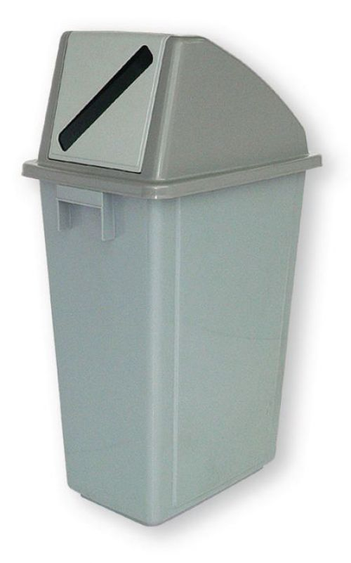 Paper Recycling Bin 58 Litre with Grey Slot (non-returnable)