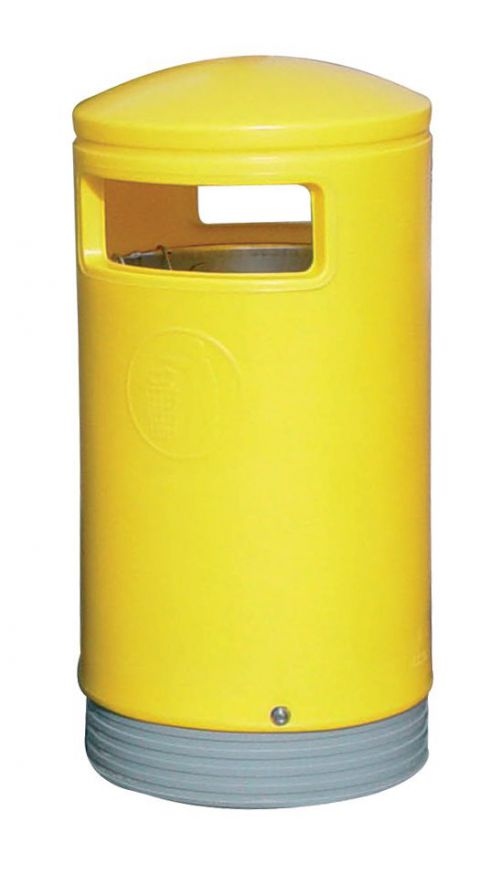 Outdoor Hooded Top Bin 75 Litres Easy Clean Yellow *Non-Returnable*