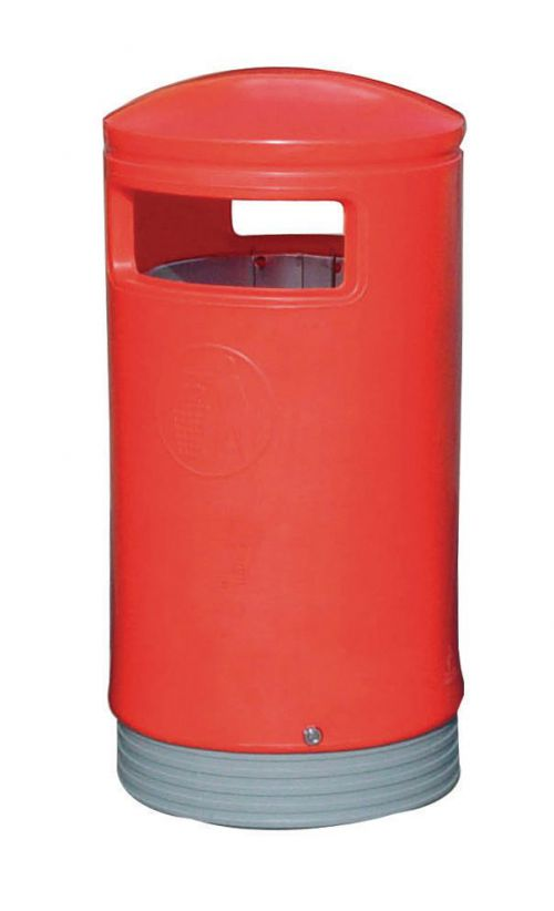 Outdoor Hooded Top Bin 75 Litres Easy Clean Red *Non-Returnable*