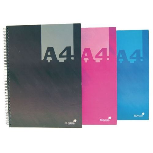 Silvine Luxpad A4 Wirebound Hard Cover Notebook 140 Pages Assorted Colours (Pack 6)