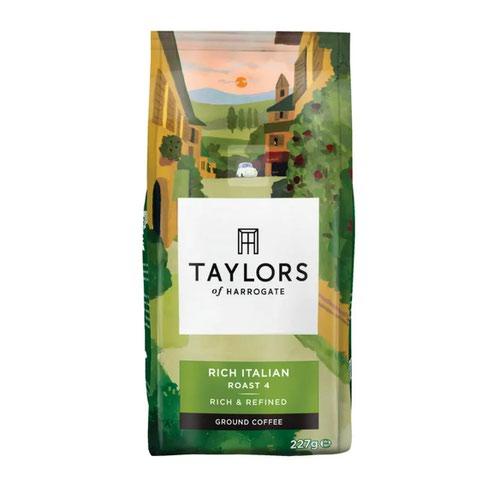 Taylors of Harrogate Rich Italian Ground Coffee 227g 0403177