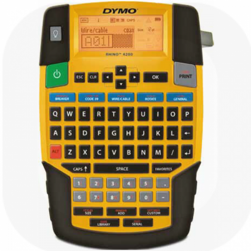 Dymo Rhino 4200 Commercial Label Printer QWERTY One Touch Smart Keys S0955950