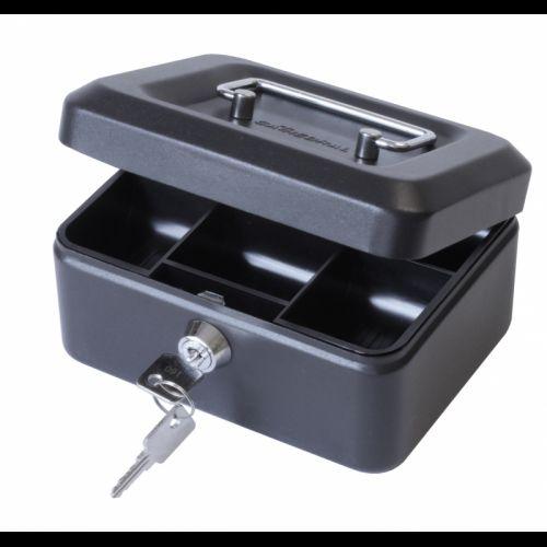 ValueX 15cm (6 inch) Key Lock Metal Cash Box Black