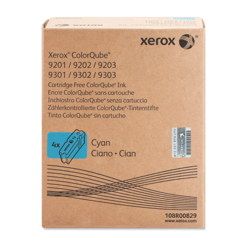 Xerox ColorStix Cyan (Yield 9,250 Pages) Solid Ink Sticks (Page of 4) for Xerox ColorQube 9200 Series