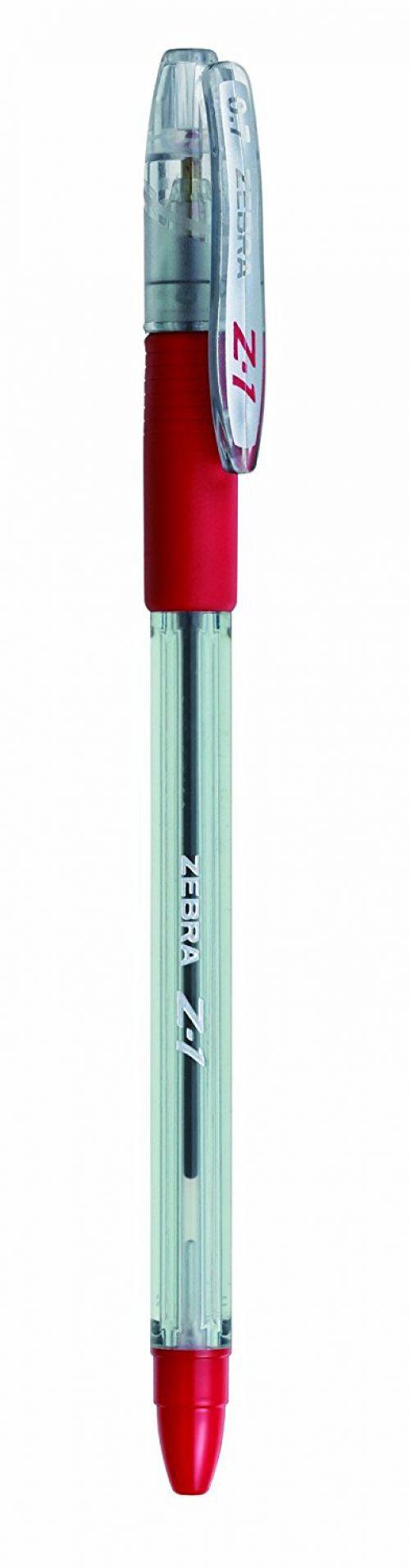 Zebra Z1 Smooth Ballpoint Pen Medium 0.7mm Red PK12