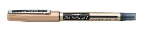 Zebra DX7 Rollerball Liquid Ink Rollerball Pen 0.7mm Tip 0.4mm Line Black (Pack 10)