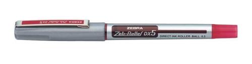 Zebra DX5 Rollerball Liquid Ink Rollerball Pen 0.5mm Tip 0.3mm Line Red (Pack 10)