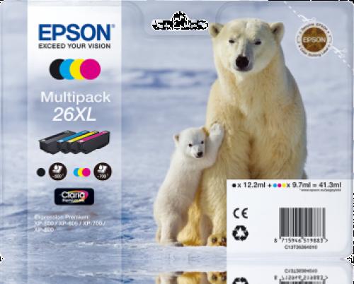 Epson C13T26354012 26XL Black Colour Ink 12ml 3x10ml Multi