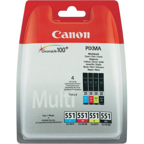Canon 6509B009 CLI551 CMYK Ink 4x7ml Multipack