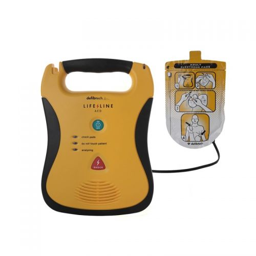 Wallace Cameron Lifeline AED Defibrillator (Black and Yellow)