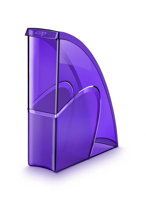 CEP Pro Gloss Magazine File Made From Recyclable; Shock Resistant Polystyrene Purple