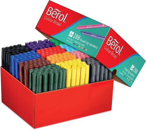 Berol Colourbroad Classpack Assorted Pack of 288 3P