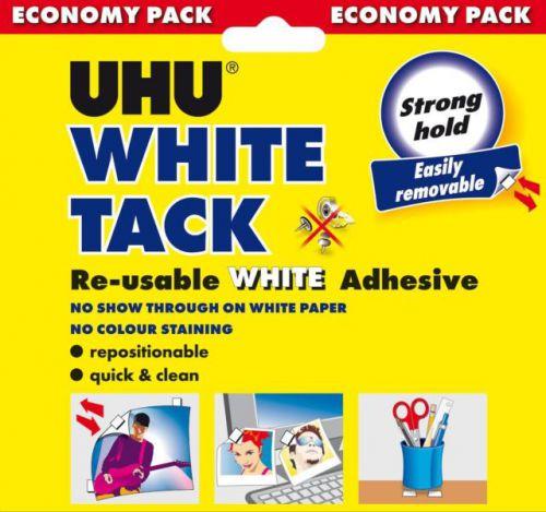 UHU White Tack Economy PK6