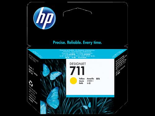 HP 711 Yellow Standard Capacity Ink Cartridge 29ml - CZ132A