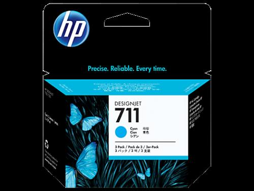 HP CZ134A 711 Cyan Ink 3x 29 ml Multipack