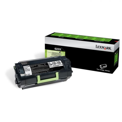 Lexmark 62D2X00 622X Black Toner 45K
