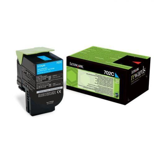Lexmark 70C20C0 702C Cyan Toner 1K
