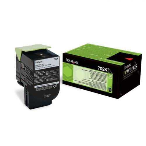 Lexmark 70C20K0 702K Black Toner 1K