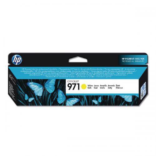 HP 971 Yellow Standard Capacity Ink Cartridge 25ml for HP OfficeJet Pro X451/X476/X551/X576 - CN624AE