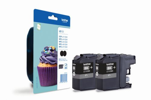 Brother LC123BK Black Ink 2x11ml Twinpack