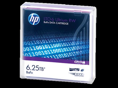 HP (3/6.25TB) 2.5:1 Compression 846m 400MB/s LTO-6 RW Barium Ferrite Ultrium Data Tape Cartridge (Purple) Pack of 20