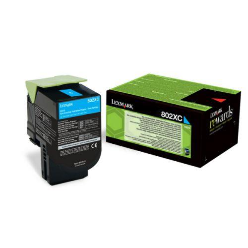 Lexmark 80C2XC0 802XC Cyan Toner 4K