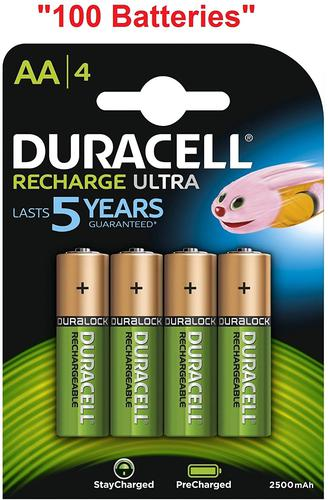 Duracell Ultra Power AA Rechargeable Batteries PK4