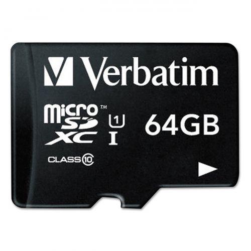 Verbatim Premium Class 10 MicroSDXC Card 64GB with Adapter