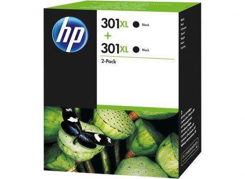 HP D8J45AE 301XL Black Ink 8ml Twinpack
