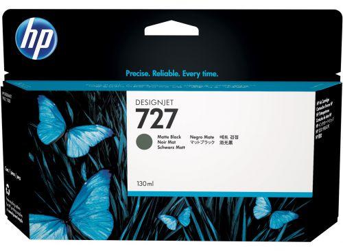 HP 727 Matte Black Standard Capacity Ink Cartridge 130ml - B3P22A