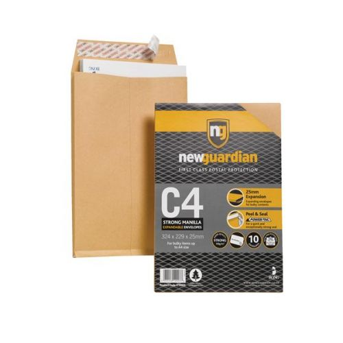 New Guardian C4 Gusset Envelope 130gsm PK10