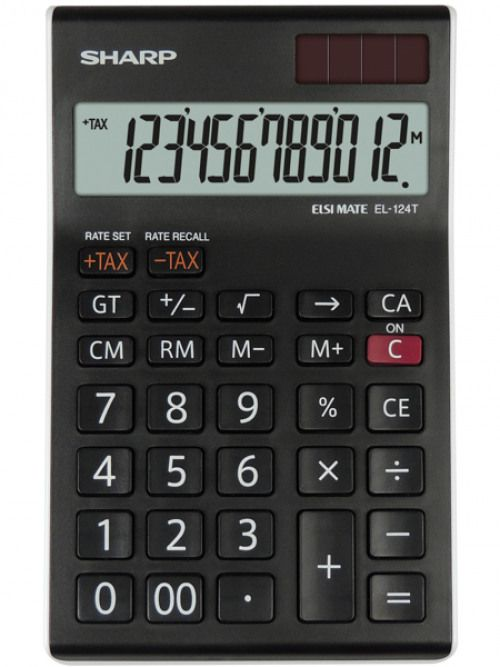 Sharp EL124TWH Desktop Calculator 12 Digit