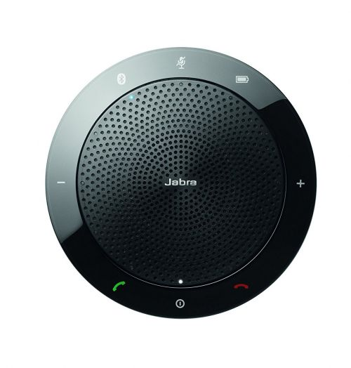 Jabra Speak 510 Mono Bluetooth 3.0 USB Portable Conference Speakerphone DSP Function LED Lights Microsoft Certified