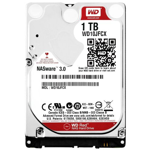 WD 1TB Red 2.5 Inch Red Drive