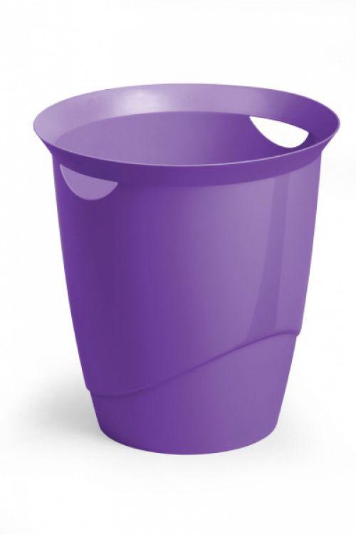 Durable Trend Waste Basket Translucent Purple 16 Litre 1701710992