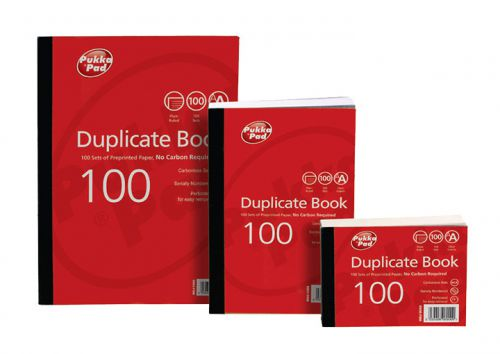 Value Duplicate Book Plain Ruled 105x130mmPK5