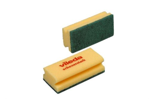 Value Foamback Sponge Scourer Green/Yellow (Pack 10)