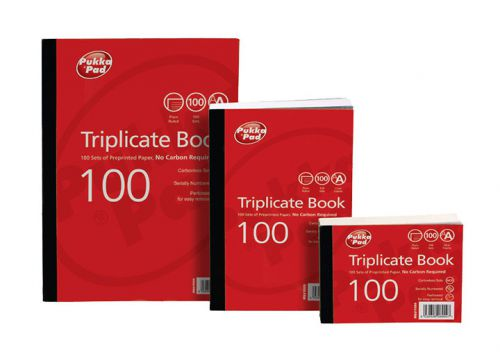 ValueX Triplicate Book Plain Ruled 216x130mm (Pack 5)